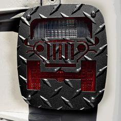 Jeep Tweaks Tail Light Guards, Textured Black Powder Coat - Pair