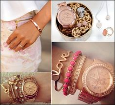 rose gold accesories