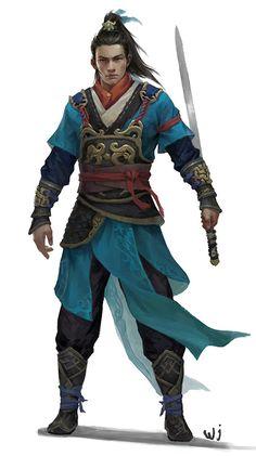 m Rogue Assassin Med Armor Sword Asian Faction lg Fantasy Character Design, Character Design Inspiration, Character Concept, Character Art, Concept Art, Story Characters, Fantasy Characters, Fantasy Armor, Fantasy Samurai