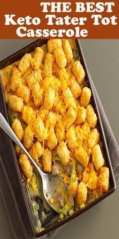 The Best Keto Tater Tot Casserole - Best Gift 2020 Easy Clean Eating Recipes, Easy Healthy Dinners, Healthy Dinner Recipes, Meal Recipes, Best Diet Foods, Tater Tot Casserole, Best Comfort Food, Easy Family Meals, Popular Recipes
