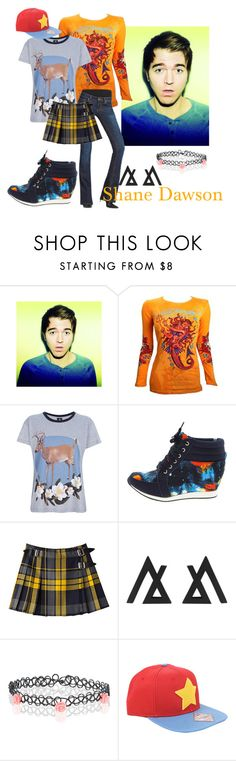 """Shane Dawson"" by panic-jane ❤ liked on Polyvore featuring Ed Hardy, Mother of Pearl, CAbi and Accessorize"