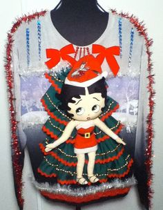 Ugly Christmas Sweater Dress or long sweater Betty by stealofadeal, $77.00