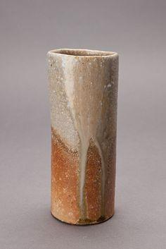 """Jan Kollwitz, Kake-hanaike (hanging flower vase), 2014, stoneware, 7.5 x 3.25 x 3"""""""