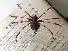Lovely Beaded Christmas Spider Ornament,  by curiouscarrie, $9.00 #ornament #Christmas #spider #handmade