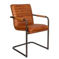 Livior esszimmer stuhl basie cognac konferenzstuhl for Design stuhl freischwinger piet 30