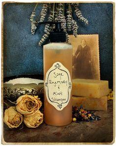 Rosemary Mint Sage Shampoo, Herbal Hair Care