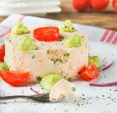 Mousse de salmón ahumado con crema de aguacate a la naranja | L'Exquisit
