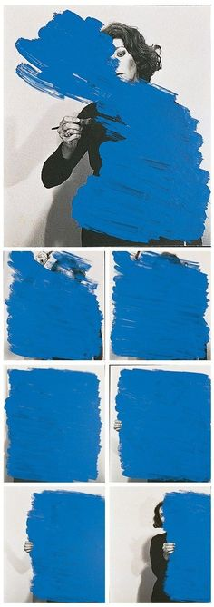 #painting #photo #woman #blue