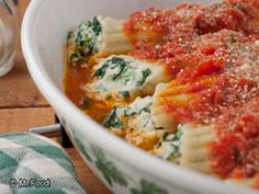Spinach and Cheese Manicotti - Ever wondered how those fancy Italian ...