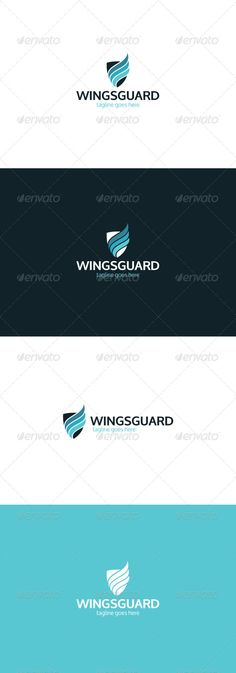 Wings Guard Logo — Photoshop PSD #transport #motion • Available here → https://graphicriver.net/item/wings-guard-logo/8424026?ref=pxcr