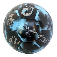 b163f4605 2018 Minnesota United FC Team Autographed Adidas MNUFC Logo MLS Soccer  Ball