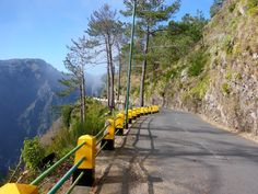 Mountain road, Madeira, Portugal