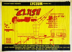 Paddle8: Concert Poster for Lyceum Theatre, London - The Clash