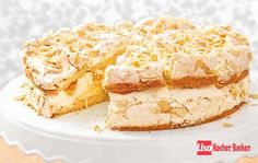 Jensen-Torte (Baiser- Eisschnee-) Flocken Torte mit Mandarinen Sahne Creme