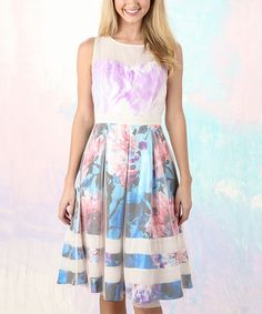 Look at this Ocean Flair for the Dramatic Fit & Flare Dress on #zulily today!