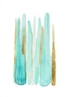 Linear Watercolor in Turquoise Art Print by Emily Sanford Paint Color Schemes, Blue Color Schemes, Beach Color Palettes, Wallpaper Backgrounds, Wallpapers, Turquoise Art, Object Photography, Abstract Pattern, Collage Art