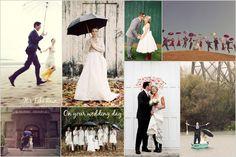 Rainy Wedding Day Inspiration - Don't let rain ruin your wedding! | London Bride Blog | London Wedding Planning + Inspiration