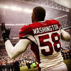 LB #DarylWashington is inspired by our National Anthem. #ArizonaCardinals - great promise; great disappointment