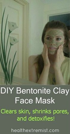 mask for pores clear skin It's easy to make a natural healing face mask with this bentonite clay mask recipe. Bentoniteclay will detox skin, shrink your pores, and treat acne. Bentonite Clay Face Mask, Clear Skin Face Mask, Face Masks, Skin Detox, Shrink Pores, Natural Beauty Tips, Natural Hair, How To Treat Acne, Tips Belleza