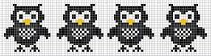 owls Cross Stitch Owl, Cross Stitch Charts, Cross Stitch Designs, Cross Stitching, Cross Stitch Embroidery, Cross Stitch Patterns, Fair Isle Knitting Patterns, Knitting Charts, Loom Animals