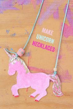 Make Unicorn Necklaces for kids - so much fun!