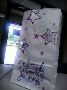 My luminaria bag, 2013 RFL of Polk County, Iowa