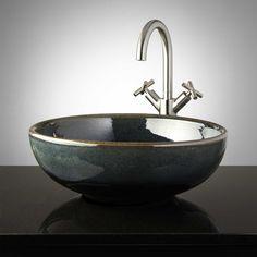 Kewanee Hand-Glazed Pottery Vessel Sink - Midnight Blue