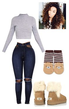 """""""Untitled #338"""" by jinxeddai on Polyvore featuring WithChic, Forever 21 and UGG"""