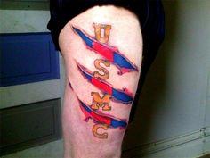 to show Caleb later Body Art Tattoos, I Tattoo, Tatoos, Color Tattoos, Marine Corps Tattoos, Usmc Tattoos, Stripe Tattoo, Usmc Love, Once A Marine