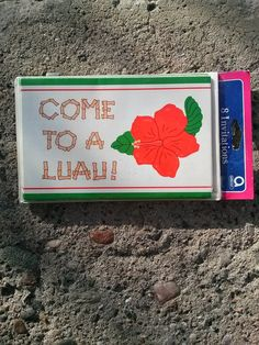 Vintage 1970s Party Invitations Luau Stationery by bycinbyhand