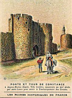 Vieille carte postales de camargue