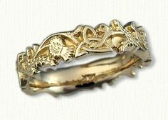 This was my dream wedding band. It's so unique and beautiful. When I first saw it, it spoke to me. This band tells you who I am--Again very celtic.