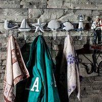 Ocean Sea Sailing Boat Starfish Beacon Home Decor Bathroom Wall Hanger Hook Ideal for wall ,door,bat