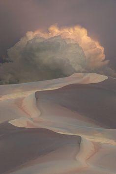 desert clouds via sphinxnomore sands, sky, heaven, soft colors, art, storms, amazing nature, storm clouds, deserts