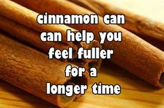 #Cinnamon can help you feel fuller for a longer time