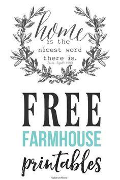 French Farmhouse Printables Wall Decor – Hallstrom Home