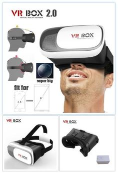 VR02 3D VR Headset Glasses virtual reality 3D video VR Box compatible with 3.5-6 inch Smart phones.