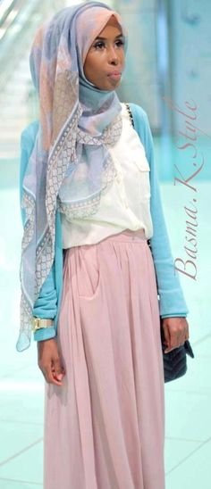 Basma K. love the outfit. colors. scarf. everything