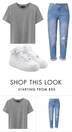 """""""Untitled #90"""" by halissiaelviracra on Polyvore featuring WithChic and NIKE"""