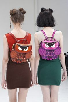 Really want these Owl backpacks by Yang Du!