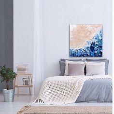Bild könnte enthalten: Schlafzimmer und Innenbereich    #Regram via @B23MgYNDlit Modern Art, Contemporary Art, Mixed Media Art, Pop Art, Abstract Art, My Arts, Tapestry, Living Room, Wall Art