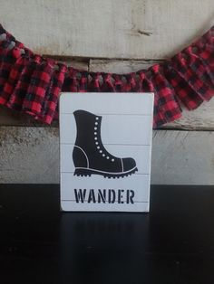 WANDER Mini Sign, Adventure Series Mini Signs, Tiered Tray Decor, Shelf Decor Patriotic Decorations, Halloween Decorations, Fabric Garland, Hudson River, Tray Decor, Best Friend Gifts, Hostess Gifts, Wander, Fall Decor
