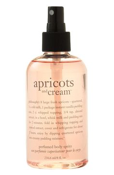 Philosophy's apricots and cream body spray