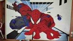 Aquí les dejo el avance que ha tenido un mural que estamos pintando mi hermano y yo. Espero que les guste
