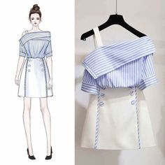 Ideas For Sewing Clothes Women Skirt Ideas Fashion Drawing Dresses, Fashion Illustration Dresses, Fashion Dresses, Skirt Fashion, Asian Fashion, Look Fashion, Fashion Models, Fashion Trends, Korean Fashion Work