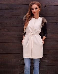 $9.22Stylish Ladies Women Fur Sleeveless Jacket Outwear Coat Cuff Waistcoat Vest