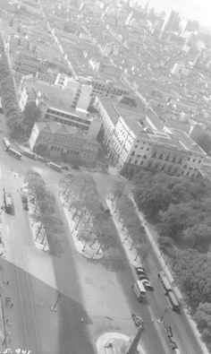 Com a obra, o Campo de Santana precisou ser reduzido, em 1941 Arquivo Geral da Cidade do Rio de Janeiro