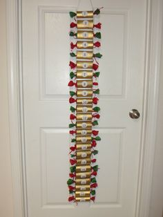 Kids Christmas Candy Countdown Advent Calendar - up-cycled toilet paper rolls