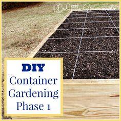 Constructing DIY Container Garden by 3 Little Greenwoods {3littlegreenwoods.com}