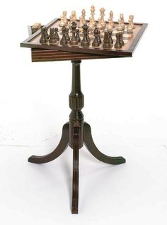 "CloseOut/Clearance on 2 styles of chess tables left, this Tournament Chess & Checker Table, 26"" high, PLUS Free Ground Shipping, and 1 other octagon chess table. See both at http://www.thegamesupply.com/chesstables #chesstables #chessandcheckerstables"